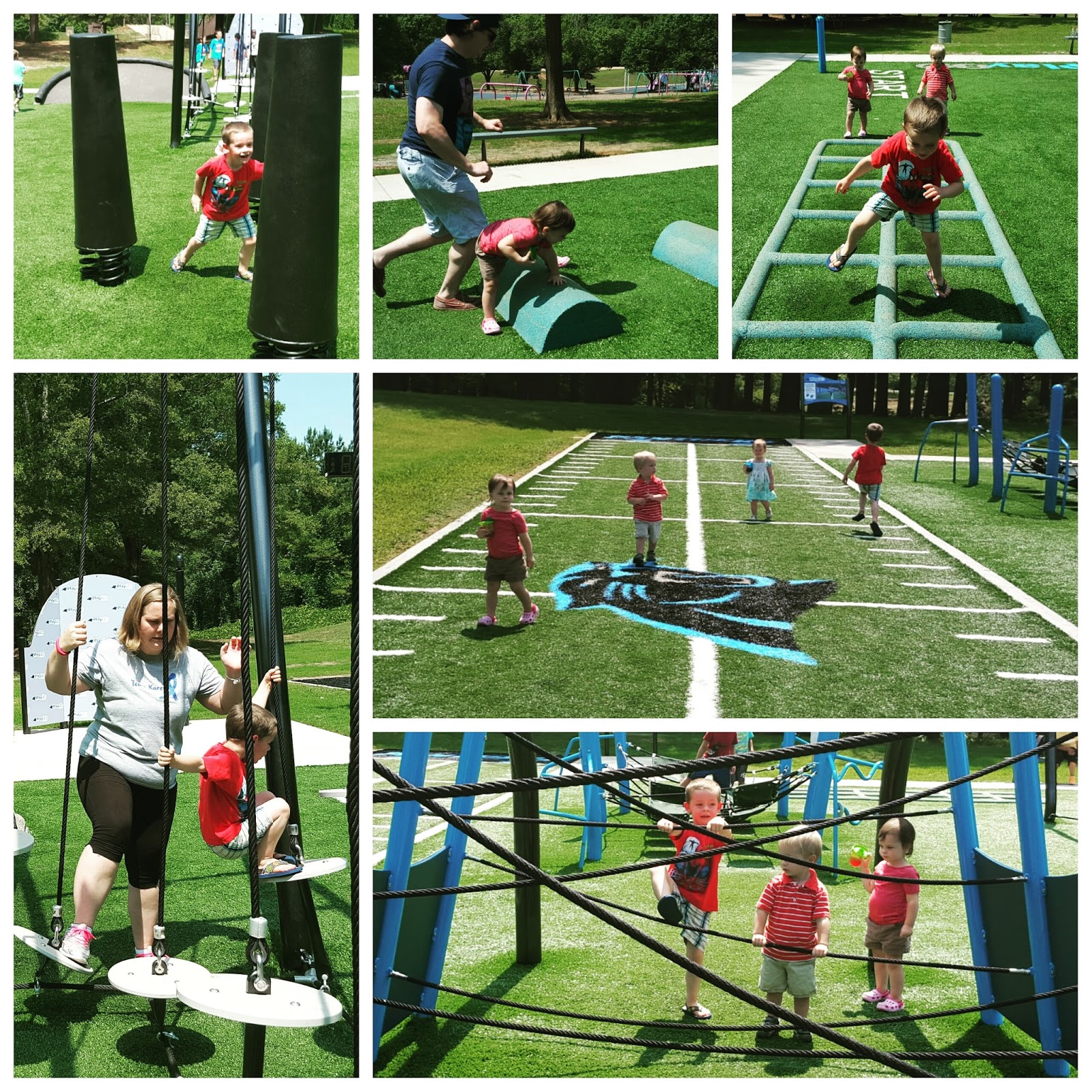 Triplets + Toddler: New Obstacle Course Park
