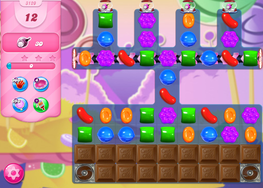 Candy Crush Saga level 3120