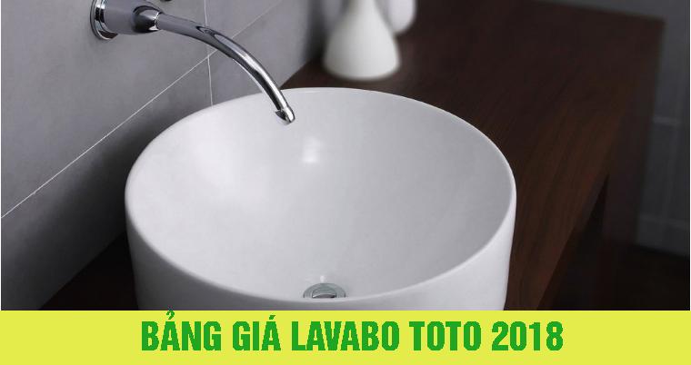 Bảng giá lavabo TOTO giá gốc 2018 chính hãng