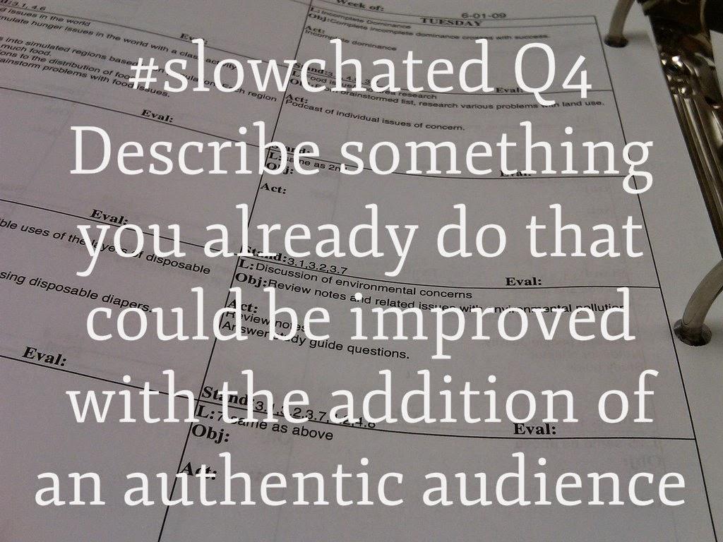 Teacher With Tuba: Sunday Summary: Authentic Audience on #