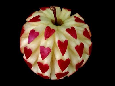 apple fruit art love heart