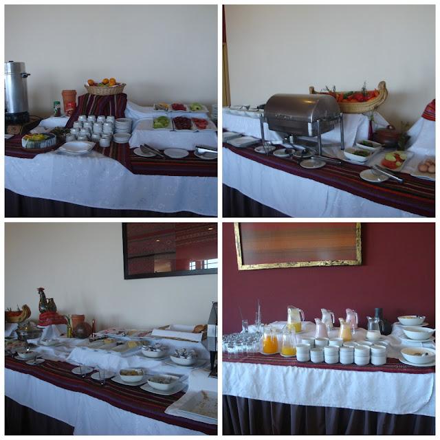 café da manhã no Hotel Jose Antonio Puno, Peru
