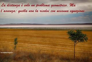 La distanza è solo un problema geometrico. Ma l'assenza; quella non la risolvi con nessuna equazione. bülent boz