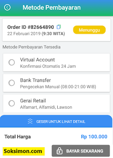 Metode pembayaran top up saldo Payfazz