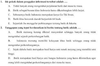 Contoh Soal UAS Semester 1 SMA Kelas X Mata Pelajaran Bahasa Indonesia Kurikulum 2013