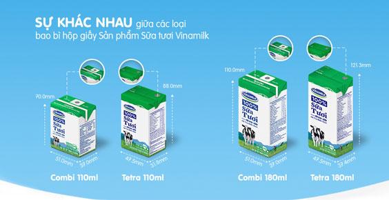 Mẫu in bao bì giấy đựng sữa giá rẻ