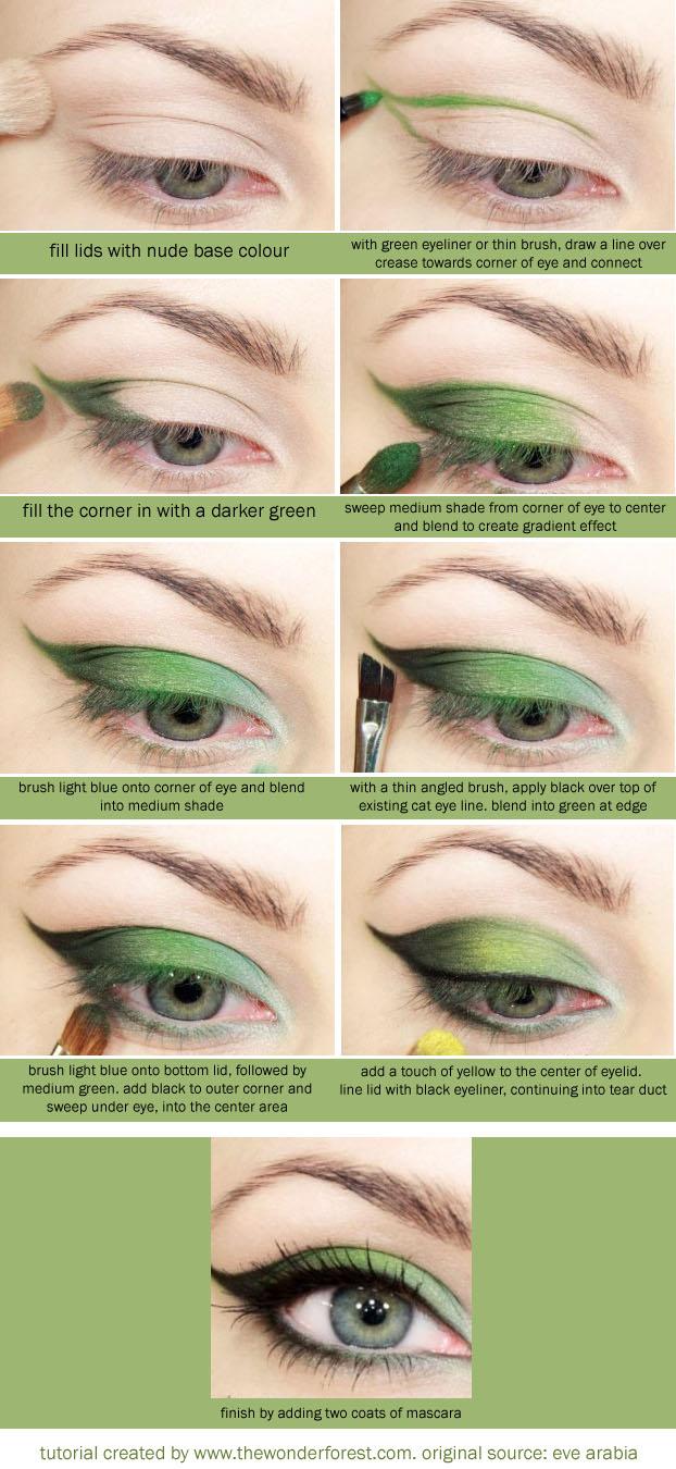 green eyes makeup - photo #45