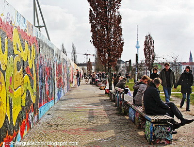sisa tembok berlin di Jerman