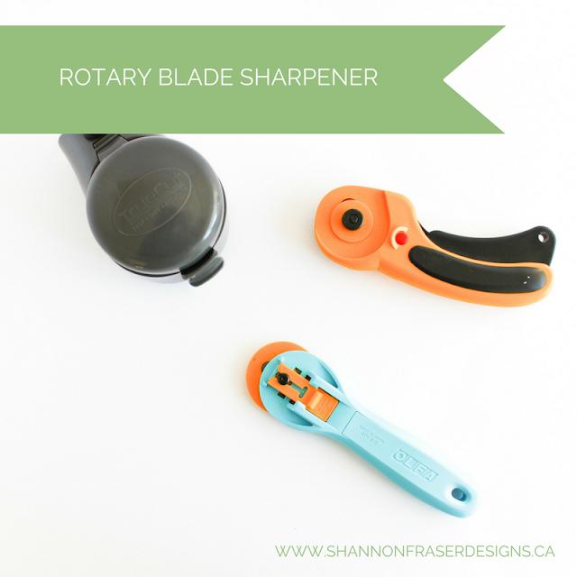 Rotary Blade Sharpener   Shannon Fraser Designs   Quilting Tools   TrueSharp Electric Blade Sharpener