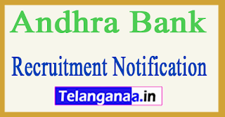 Andhra Bank Recruitment Notification 2017