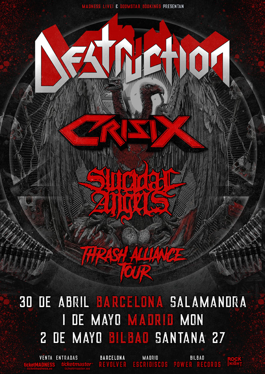DESTRUCTION + CRISIX + SUICIDAL ANGELS