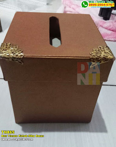 Box Tissue Kotak Siku Emas