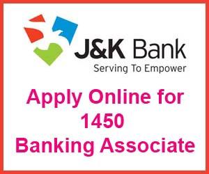 JK Bank Banking Associate Online Form 2018