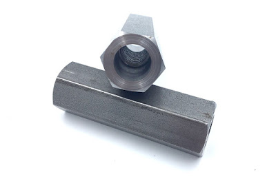 "Modified Steel Coupling Nuts - 5/8-11 Internal Thread And 1"" Across The Flats At 3.13"" Overall Length"
