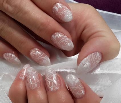 Idea Nails Art Simple Wedding Style Nails