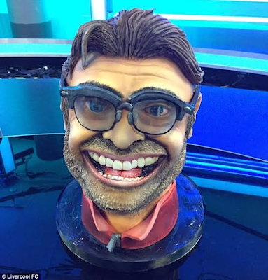 See the life-like sculpted cake Liverpool gifted coach Jurgen Klopp for his 49th birthday (see photo)