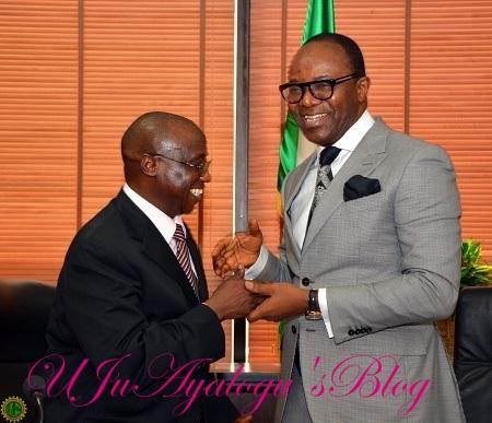 $25b Scandal: Petroleum Minister, Kachikwu Meets GMD of NNPC, Baru in Abuja