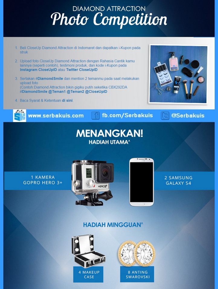 Kontes Foto Closeup Diamond Attraction Hadiah GoPro HERO 3+