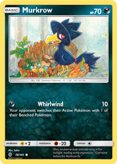 Murkrow Guardians Rising Pokemon Card