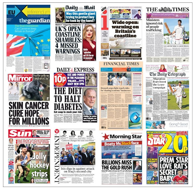front pages 31-05-16