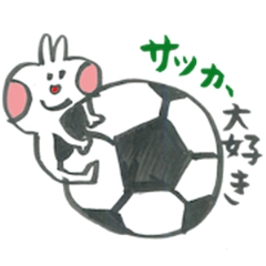 Football lover rabbit