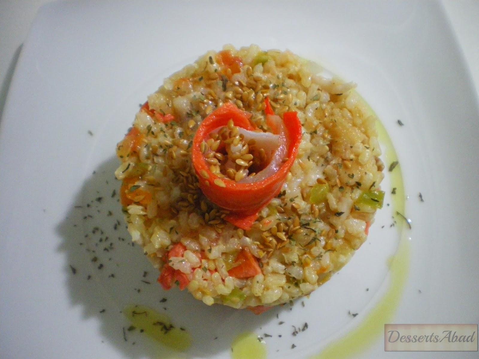 Pastel de arroz con ahumados