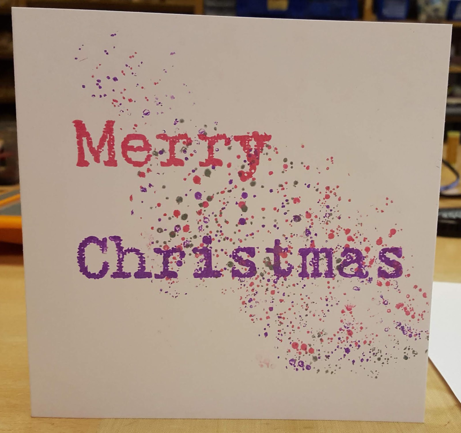 The Purple Zone: September Christmas Cardmaking Class