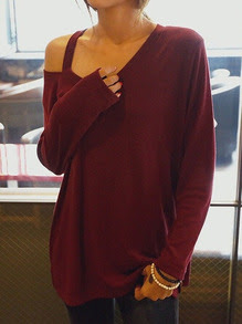 www.shein.com/Open-Shoulder-Long-Sleeve-Burgundy-T-shirt-p-241943-cat-1738.html?aff_id=2687