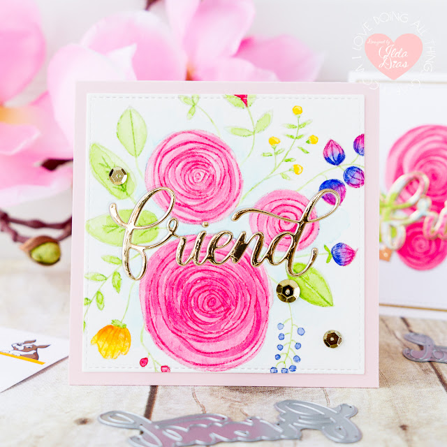 More Floral Friendship Cards ft. Big Friend Dies for Simon Says Stamp Good Vibes Release by ilovedoingallthingscrafty