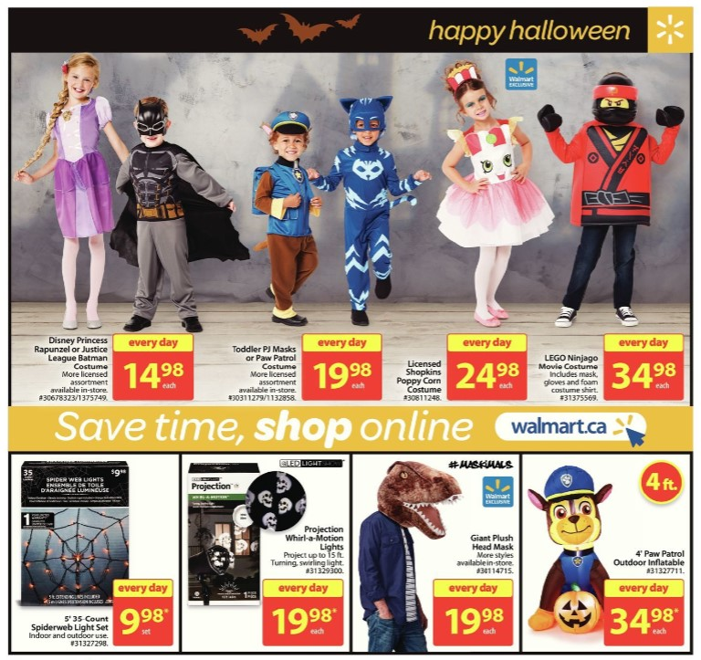 childrens halloween costumes walmart flyer sep 21 27