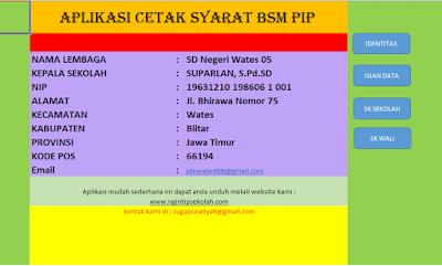 Isian Data BSM