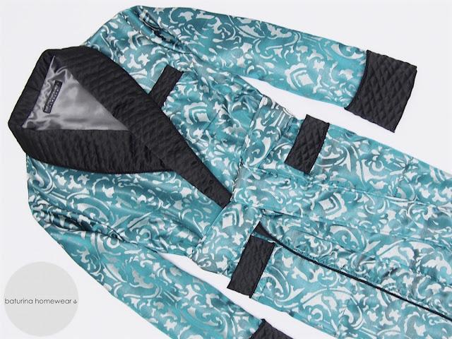 mens quilted silk dressing gown paisley jacquard blue black luxury robe for men smoking jacket bathrobe