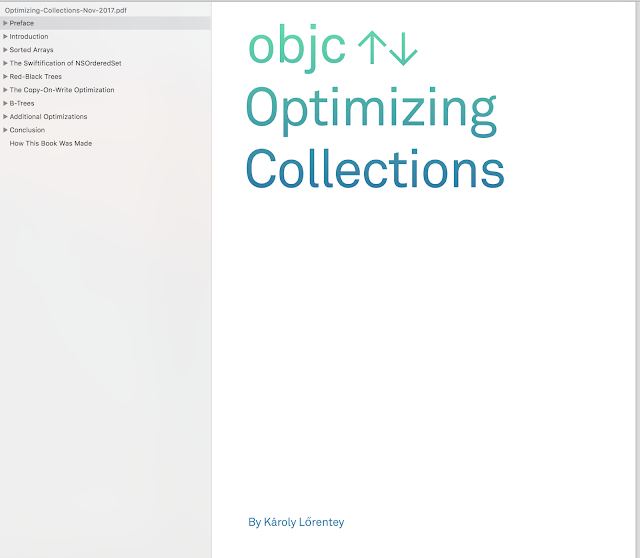 Optimizing Collections - Write custom collections in Swift with a strong focus on performance - Objc books