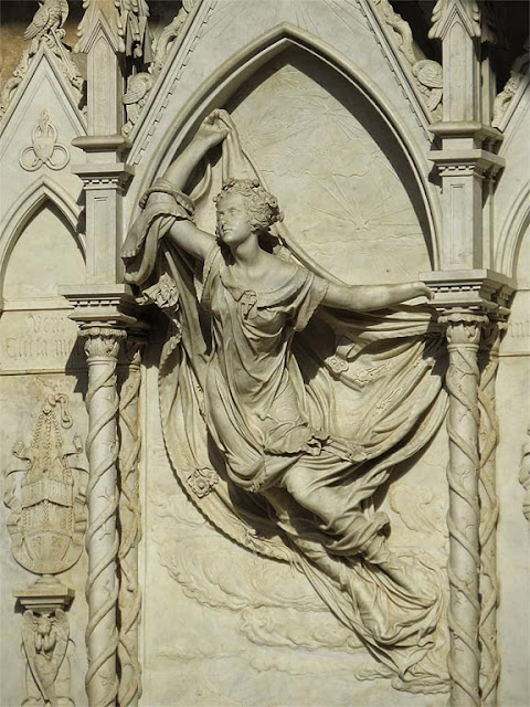 Burial monument of Louise de Favreau, by Félicie de Fauveau, Santa Croce, Florence