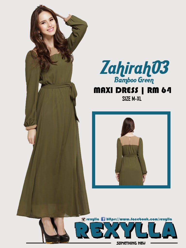 rexylla, maxi dress, zahirah03, bamboo green