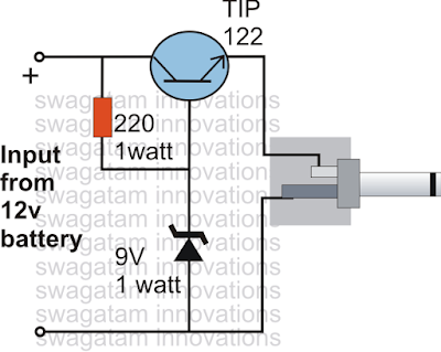 charging cellphone with a single transistor based charger circuit 5V
