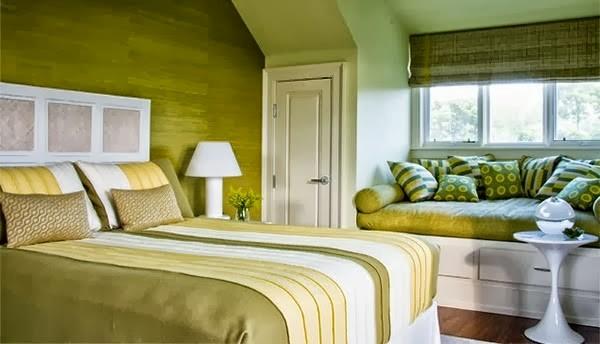 warna cat kamar tidur hijau terang 1