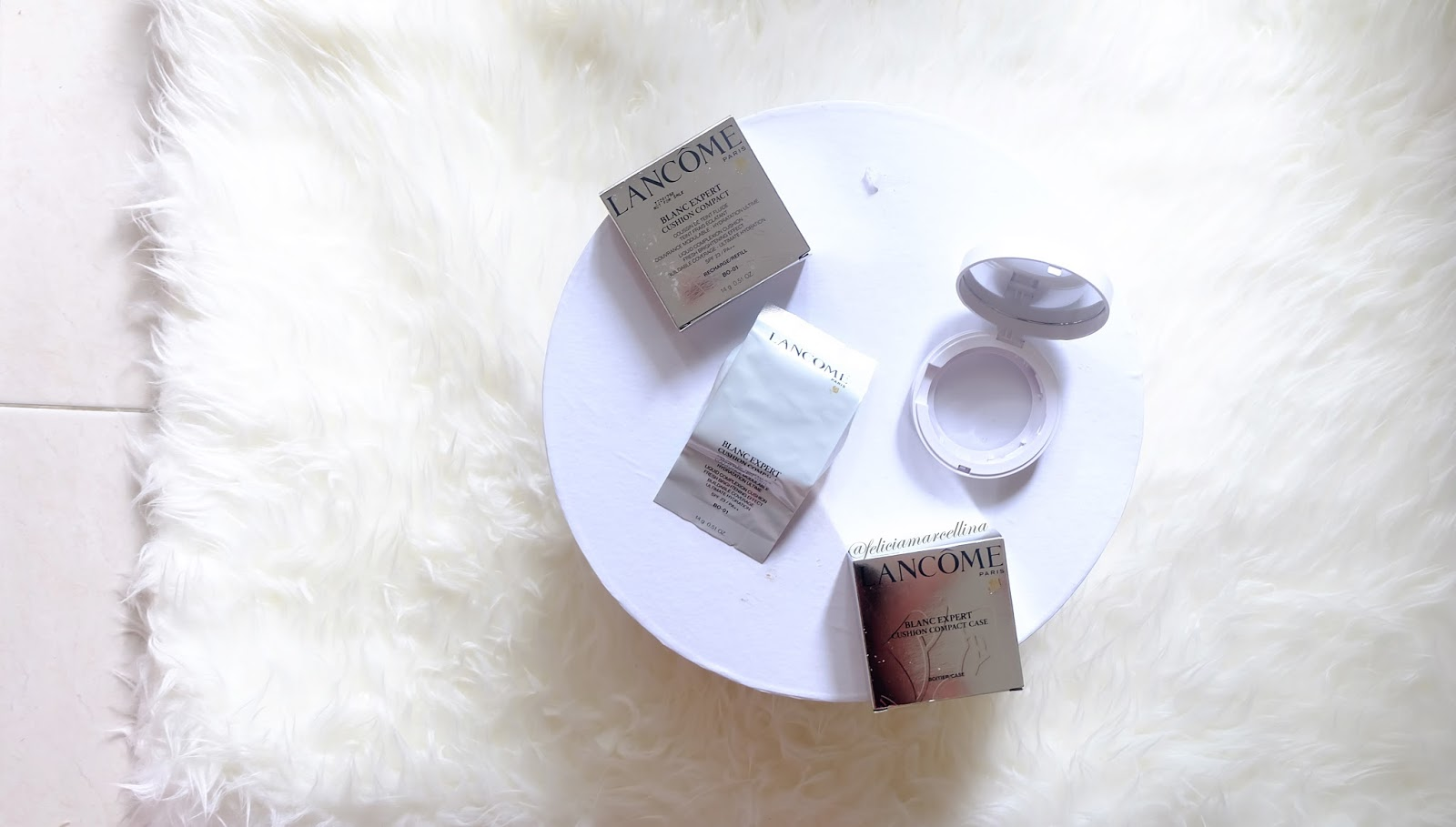 Feliciamarcellina Lancome Blanc Expert Compact Cushion Review Ultimate Whitening Purifying Foam 30ml