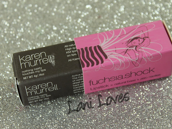 Karen Murrell Fuchsia Shock Lipstick Swatches & Review + GIVEAWAY!