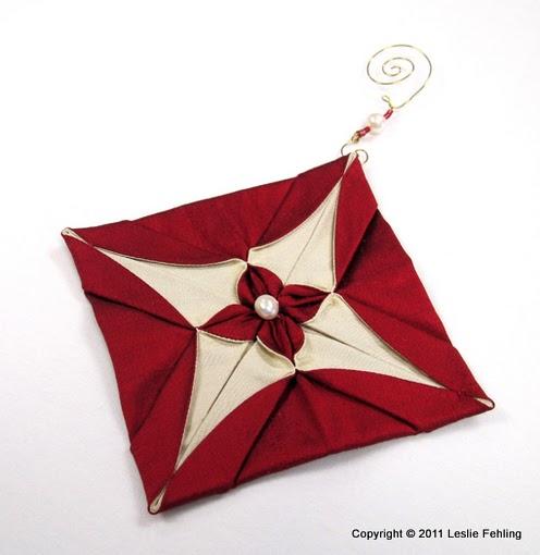 Everyday Artist: Silk Origami Christmas Ornaments