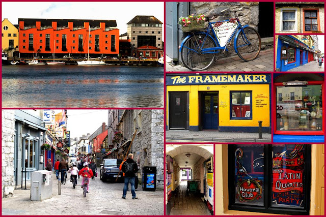 image collage from Galway city Ireland