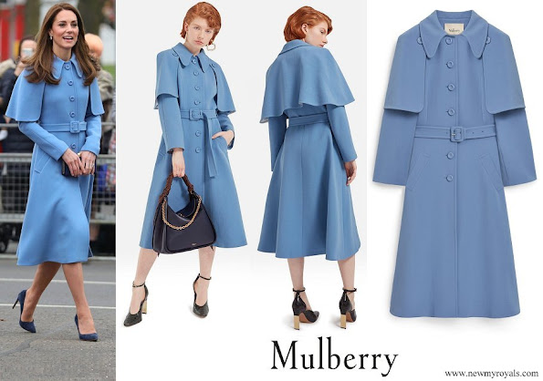 Kate Middleton wore Mulberry Blue Ashleigh Coat