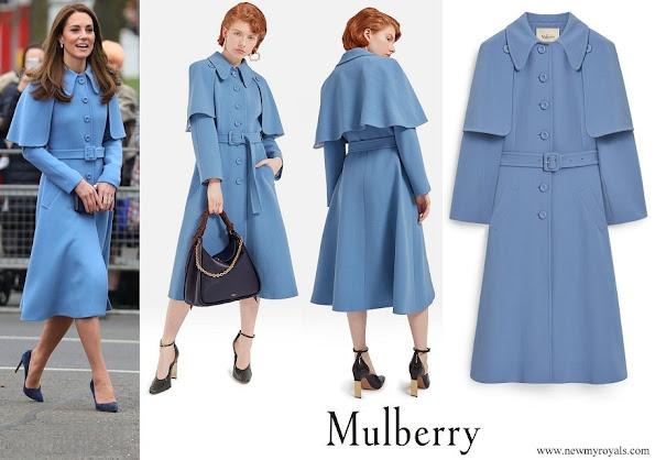 Kate Middleton wore Mulberry Blue Ashleigh Coat