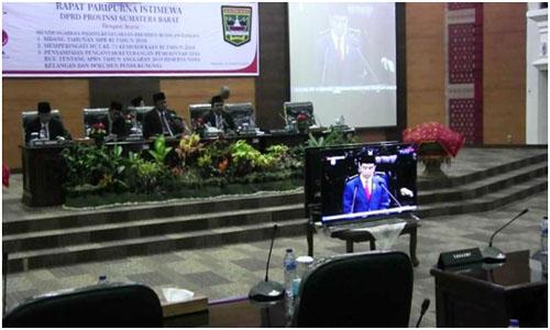 DPRD Sumbar Gelar Rapat Paripurna Istimewa Dengar Pidato Kenegaraan Presiden RI