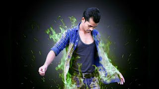 Picsart Manipulation Green Flame Effect