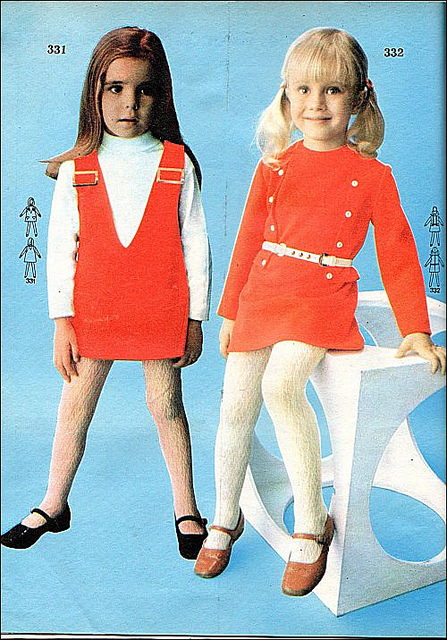 moda infantil anos 70