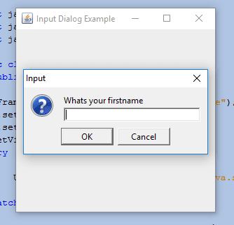 Using joptionpane showinputdialog int