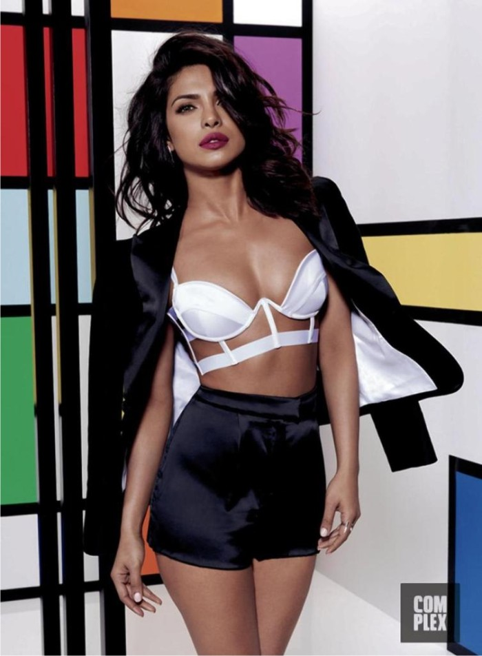 Priyanka Chopra In White Color bra