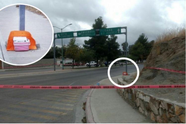 """""""A los que no se alinien aquí se pelan la verga"""", CJNG dejan cabeza humana y advertencia a Policía de Tecate"""