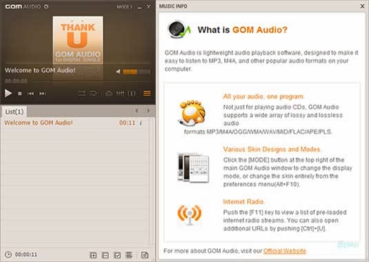 Download GOM Audio Player